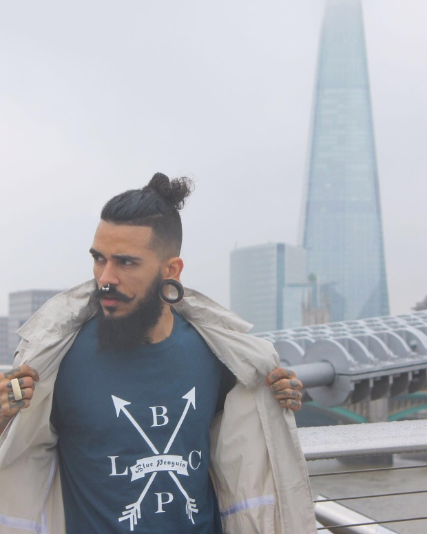 Blue Penguin London, Midnight Blue, Traditional, T-Shirt, Menswear, Fashion