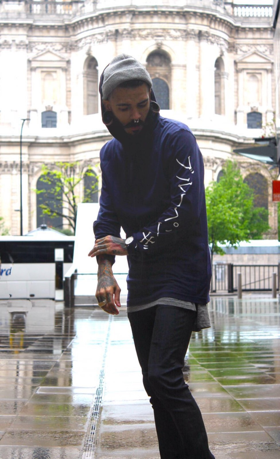 Blue Penguin London, Blue Hoodie, Evocative, Menswear, Fashion