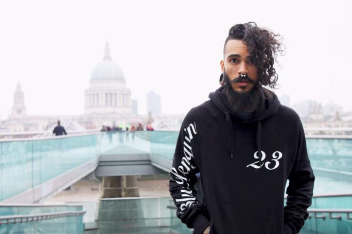 Blue Penguin London, Black Hoodie, 23, Menswear, Fashion