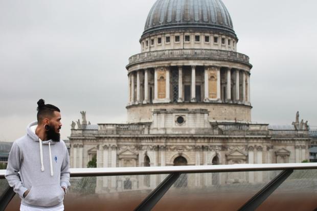 Blue Penguin London, Grey Hoodie, Premium, Menswear, Fashion